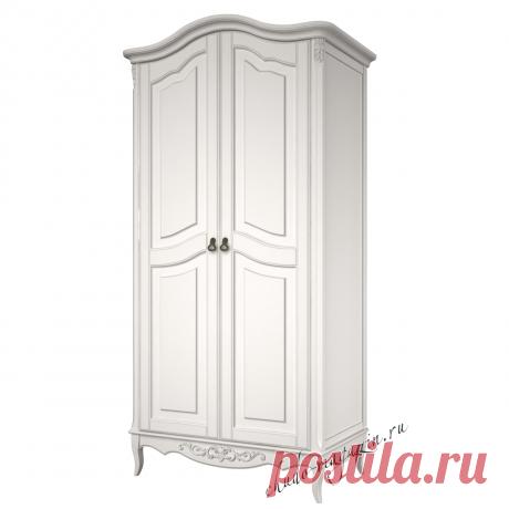 Шкаф белый классический с 2 распашными дверями