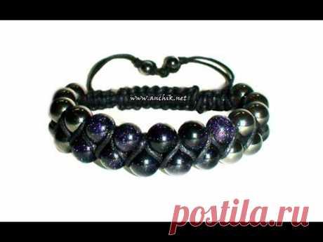 Tutorial: Double Shamballa Bracelet / Двойной браслет ШАМБАЛА