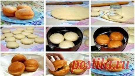 Самые вкусные дрожжевые пончики Самые вкусные дрожжевые пончики