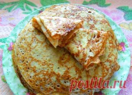 Крахмальные блины - пошаговый рецепт с фото на Повар.ру