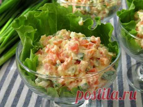"Постигая искусство кулинарии... : Салат ""Селянка"" (из яиц, моркови и зеленого лука)"