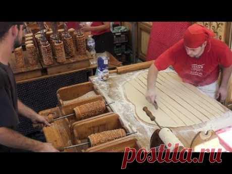 Best Skills. Sweet Street Food from Hungary and Holland. Kurtos Kalacs and Poffertjes