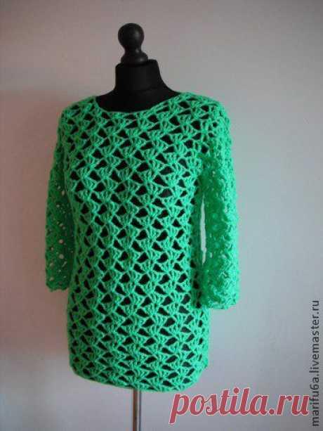 Вяжем простой и симпатичный пуловер - Ярмарка Мастеров - ручная работа, handmade