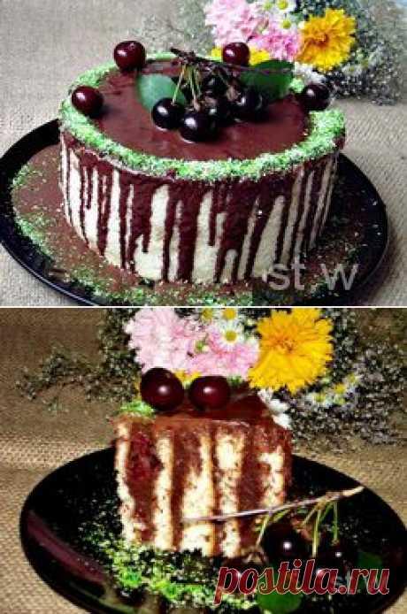 Торт с вишнями «Спираль»