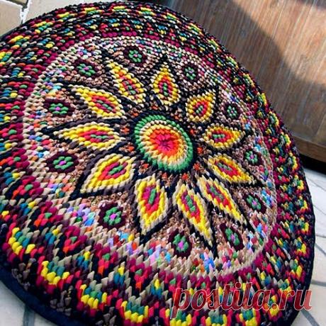 Очень красивые коврики из лоскутков. | NataliyaK | Яндекс Дзен