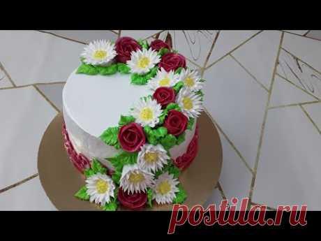 Очень простое украшение торта