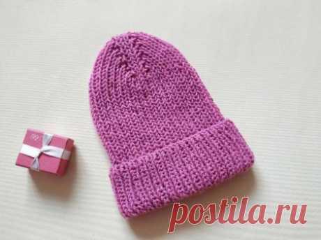 Стильная шапка спицами с красивой макушкой » «Хомяк55» - всё о вязании спицами и крючком