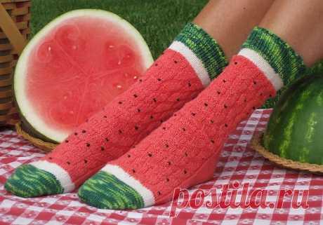 Арбузные носочки   MAKE: Craft