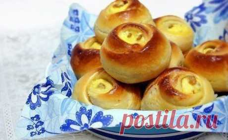 """The best recipes every day :): Rolls """"Розочки"""" with cottage cheese It is beautiful and tasty pastries."""