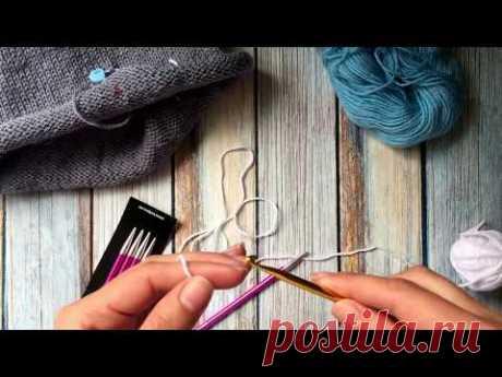 Открытый край/Набор петель на спицу с помощью крючка и дополнительной нити