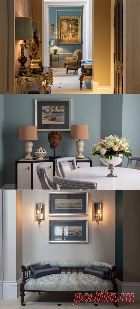 Классический интерьер трехэтажной резиденции в Лондоне