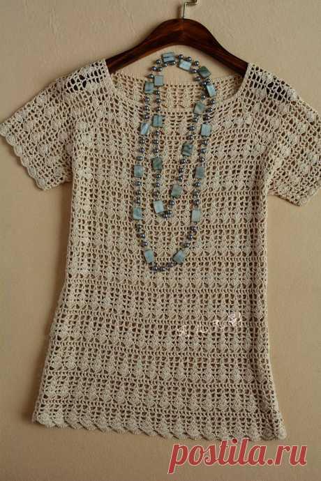 Вязание крючком: милая блузка