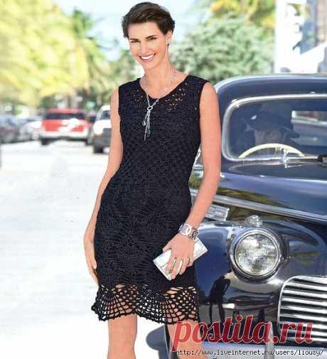 Маленькое ажурное черное платье.