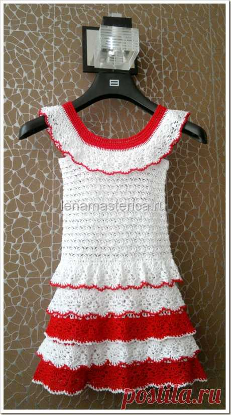 Детское платье крючком, схемы