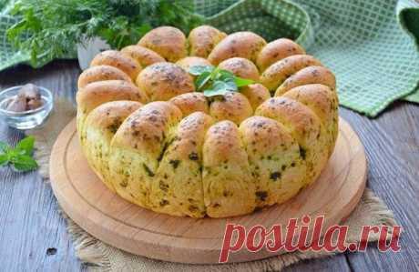 Пшеничный хлеб с зеленью и чесноком. Удивительный рецепт! Рекомендую! - be1issimo.ru
