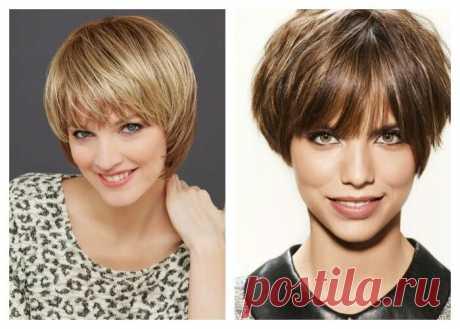 Стрижки на короткие волосы для женщин после 40 с овальным лицом | Стрижки и прически | Яндекс Дзен