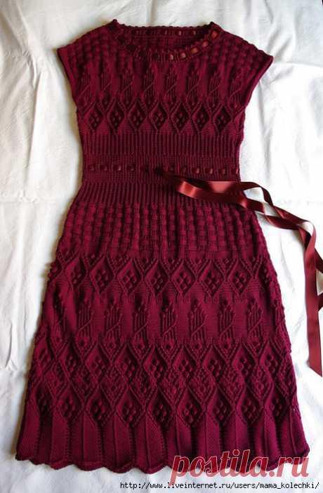 Элегантность от Dior - платье спицами