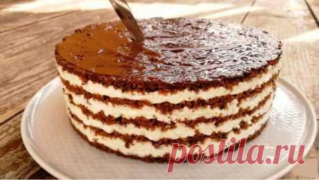 Восхитительно вкусный торт без выпечки «Тающая Загадка»