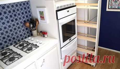 Как задействовать узкий пролет между холодильником и шкафом: мастер-класс от рукодельницы - Женский сайт. Интересные статьи для женщин и девушек - медиаплатформа МирТесен