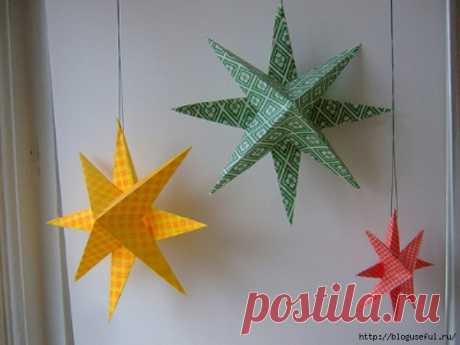 Оригинальное украшение - объемная звезда