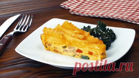 Не просто омлет, а настощий картофельный торт - с ветчиной и овощами Катофель, овощи, яйца... только из этого можно приготовить множество вкусных и сытных блюд. А вот такое блюдо порадует не только простотой и отменным вкусом, но и видом. Ай да тортик!