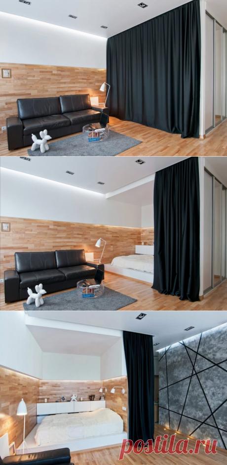 Интерьер и планировка квартиры-студии 40,3 кв. м.