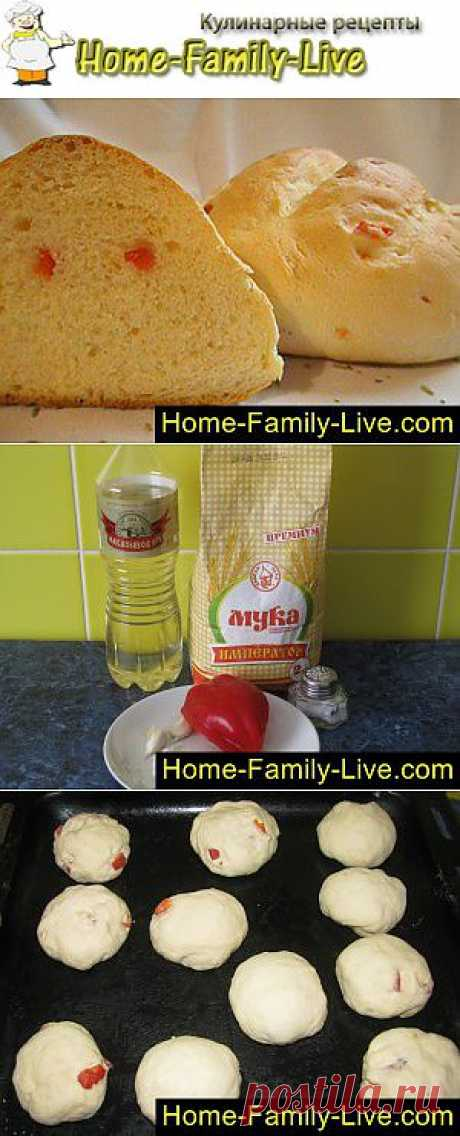 Как испечь хлеб - пошаговый фоторецепт - хлеб с наполнителем болгарски   Кулинарные рецепты