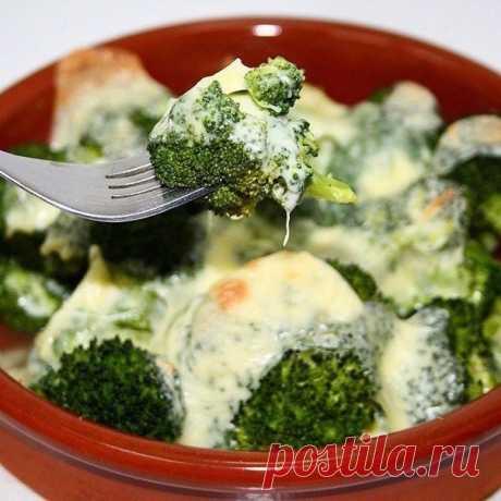 Легкий ужин: брокколи с моцареллой запеченные в духовке