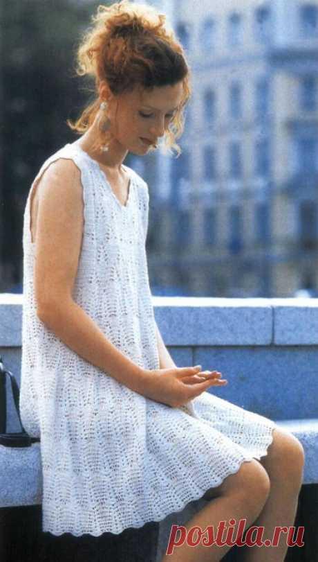 белое платьице
