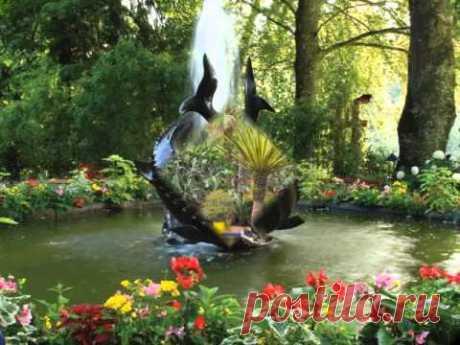 """Красивые сады мира. Музыка Иоганн Штраус """"На прекрасном голубом Дунае"""""""