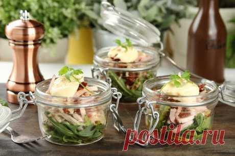 Салат с ветчиной и сельдереем в банке – пошаговый рецепт с фото.