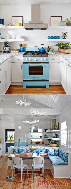 Запах моря и бело-голубая гамма: небольшой домик любителей серфинга - Дизайн интерьеров | Идеи вашего дома | Lodgers