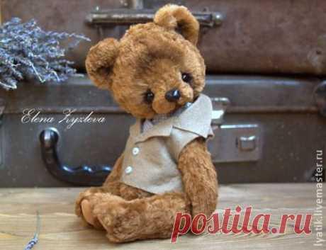 bear Patrick - brown, a bear, Teddie's bears, Teddie's bear, a bear of handwork