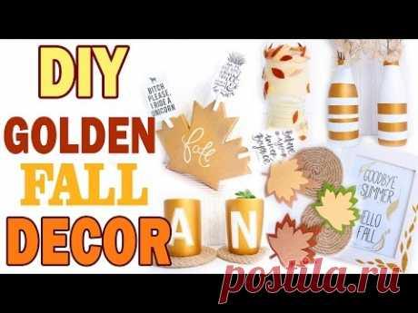 La decoración OTOÑAL de la habitación * 8 IDEAS diferentes * Golden Fall Decor * BubeBOX #1 *Bubenitta