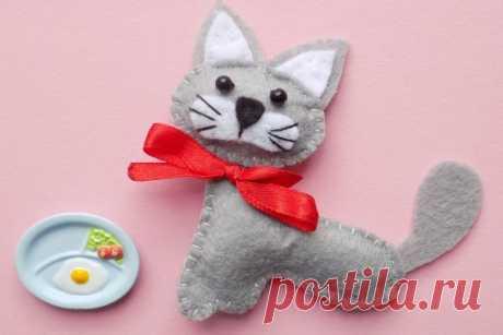Шьем котенка из фетра | CityWomanCafe.com