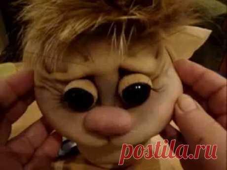 """Мастер класс по изготовлению куклы """"Хомяк"""" ч. 8 в скульптурно-текст.( чулочной технике), из капрона"""