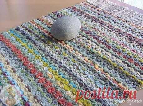 Плетение половичка на картоне