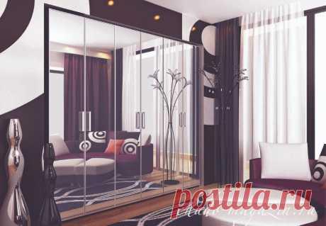 Распашной шкаф с зеркальными дверями на заказ: фото, материалы, зеркало графит