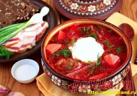 Борщ домашний классический. Рецепты приготовления. / Невозможно представить полноценный обед без вкусного наваристого супа. Традиционным блюдом на первое является конечно же борщ.