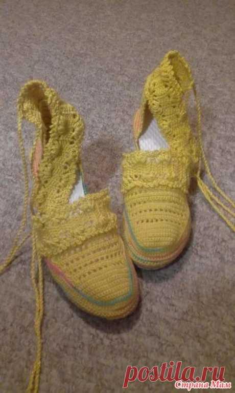 Летние босоножки крючком - Вязание - Страна Мам