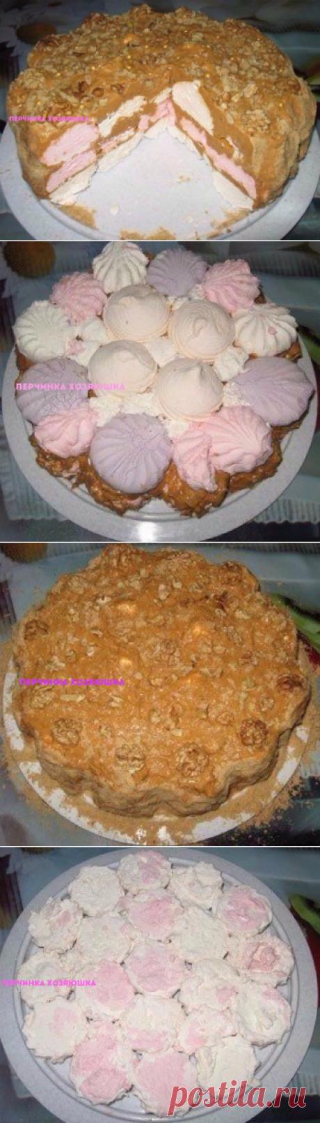 Торт из зефира без выпечки - Перчинка хозяюшка