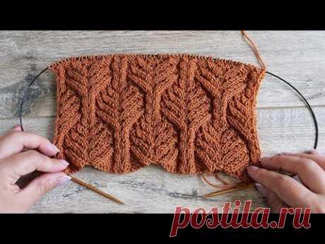 Красивый узор спицами   Beautiful knitting pattern