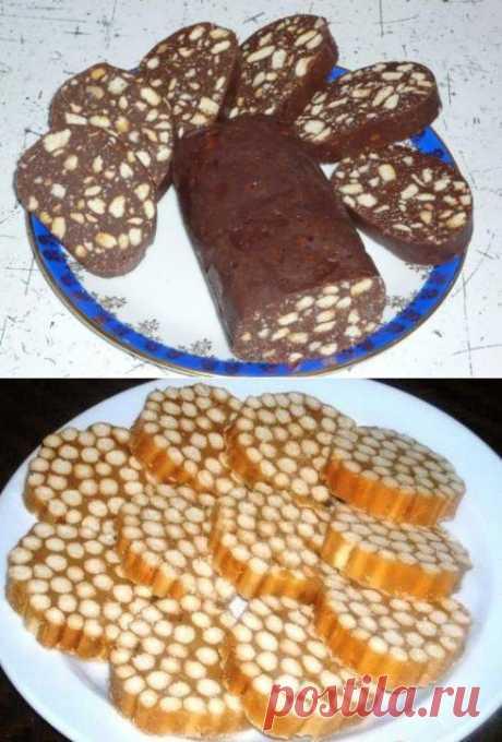 Сладкая колбаска из печенья - 5 рецептов с .