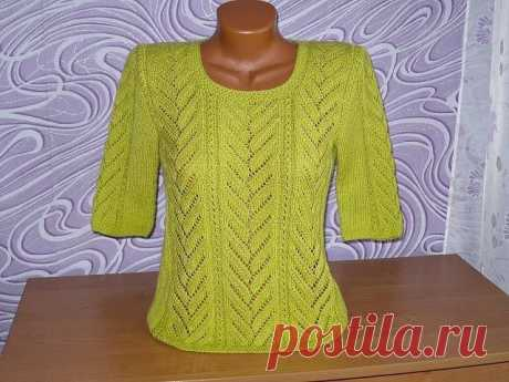 Симпатичный узор, подходящий для пуловера из категории Интересные идеи – Вязаные идеи, идеи для вязания