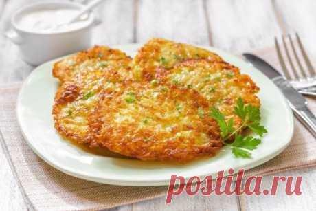 Драники с ветчиной, сыром и зеленью — Sloosh – кулинарные рецепты