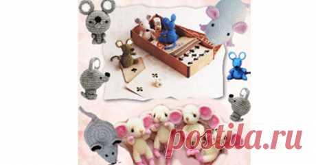 Свяжите крючком к новогодним праздникам симпатичных грызунов: 6 игрушек на выбор по ссылке.