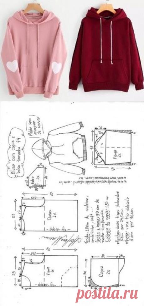 Blusa moletom com capuz feminina | DIY - molde, corte e costura - Marlene Mukai