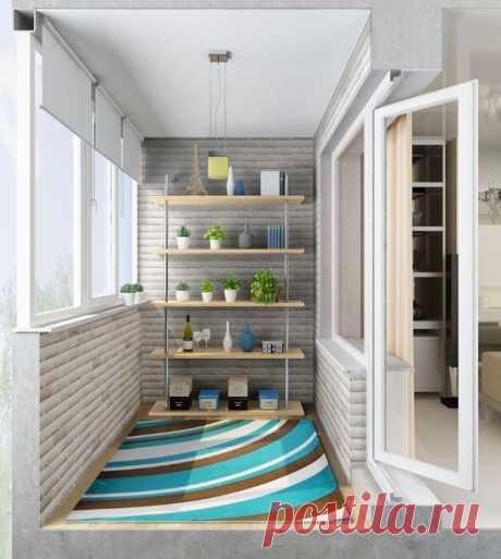 Уютный балкон в скандинавском стиле