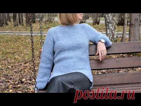Теплый зимний Женский свитер. Вязание крючком. Warm winter sweater for women. Crochet Tutorial