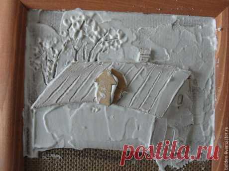 """Создаем объемные картины из картона """"Домик в деревне"""" - Ярмарка Мастеров - ручная работа, handmade"""